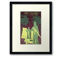 GTA 5 Game Poster Framed Print