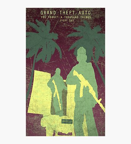GTA 5 Game Poster Photographic Print