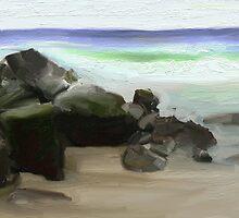 Byron Surf Rocks by Untamedart