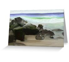 Byron Surf Rocks Greeting Card