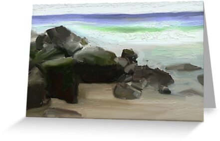 Byron Surf Rocks by Untamedart