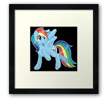 Rainbow Dash Pixel Art Framed Print