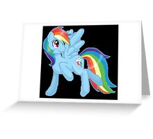 Rainbow Dash Pixel Art Greeting Card