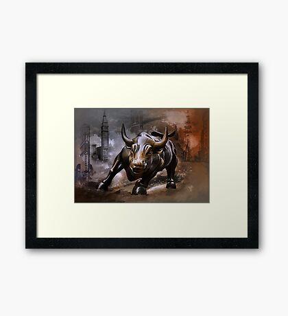 Raging Bull.New York. Framed Print