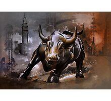 Raging Bull.New York. Photographic Print