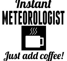 Instant Meteorologist Just Add Coffee by GiftIdea