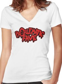 His aesthetic Women's Fitted V-Neck T-Shirt