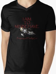 Aim to Misbehave Mens V-Neck T-Shirt