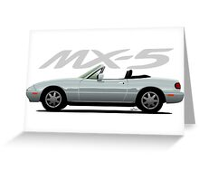 Mazda MX-5 silver Greeting Card