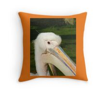 Crane in the Park Throw Pillow
