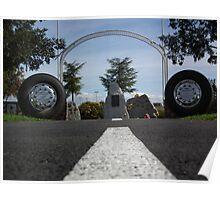 Truck drivers memorial Tamworth NSW. Australia. Poster