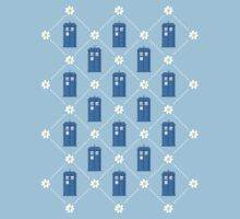 Police Box and Daisies pattern Kids Clothes