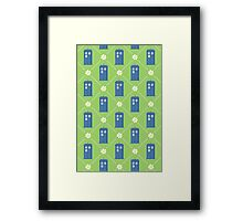 Police Box and Daisies pattern Framed Print