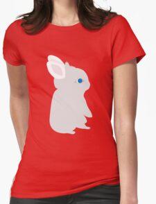 Inquisitive little cute rabbit Womens Fitted T-Shirt
