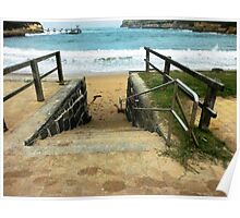 This way for a Swim - Port Campbell Cove Poster