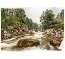 South St Vrain Canyon Boulder County Colorado Poster