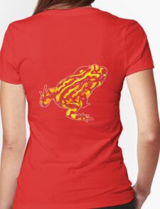 Corroboree frog tee black on black Womens Fitted T-Shirt