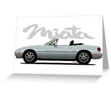 Mazda Miata silver Greeting Card