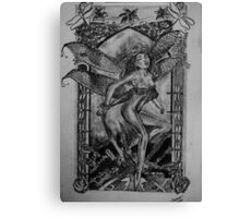Dragonfly Fairy - art nouveau   Canvas Print