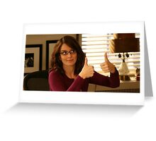 Tina Fey Thumbs Up! Greeting Card