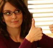 Tina Fey Thumbs Up! Sticker