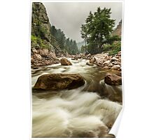 South St Vrain Canyon Portrait Boulder County CO Poster