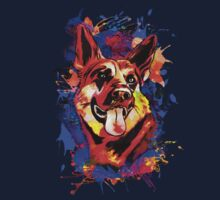 Wolf abstract. One Piece - Long Sleeve