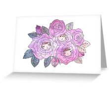 Rose Buds (Pastel) Greeting Card