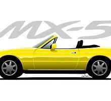 Mazda MX-5 yellow by car2oonz