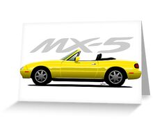 Mazda MX-5 yellow Greeting Card