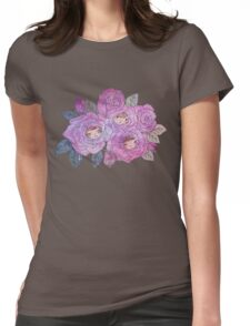 Rose Buds (Pastel) Womens Fitted T-Shirt