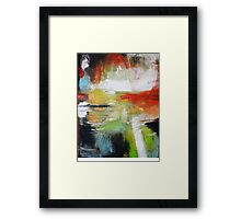 Unfinished Book - Abstract painting  Framed Print