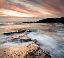 Trebarwith Sunset by igotmeacanon