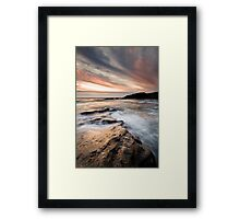 Trebarwith Sunset Framed Print