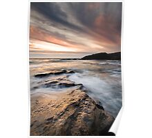 Trebarwith Sunset Poster