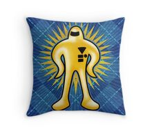 Gold Starman  Throw Pillow