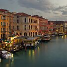 Evening lights in Venice by Béla Török