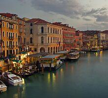 Evening lights in Venice by Béla Török