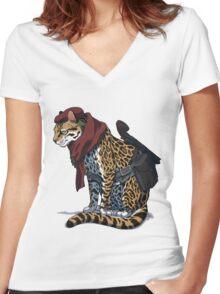 Revolver Ocelot Women's Fitted V-Neck T-Shirt