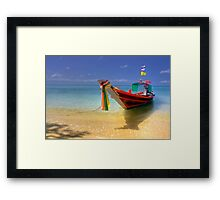 Taxi Boat Framed Print