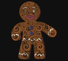 Swirly Gingerbread Man Kids Clothes