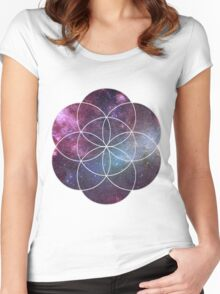 Cosmic Seed of Life Women's Fitted Scoop T-Shirt