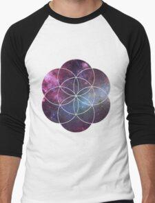 Cosmic Seed of Life Men's Baseball ¾ T-Shirt