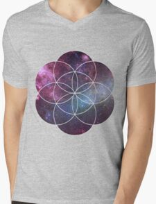 Cosmic Seed of Life Mens V-Neck T-Shirt