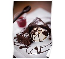 Decadent Brownie Poster