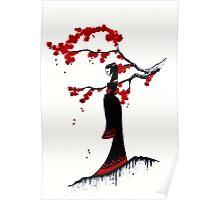 japanese plum blossom girl Poster