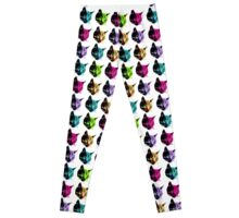 All of the Electric Tabby Faces Leggings