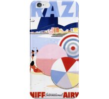 Brazil Vintage Travel Poster Restored iPhone Case/Skin