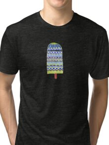 Blue Boho Popsicle Watercolor Tri-blend T-Shirt