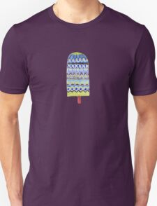 Blue Boho Popsicle Watercolor T-Shirt